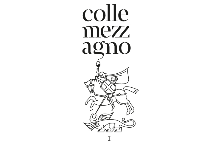 Italy, Italian wine design, Agriturismo, Agritourism, St George and dragon, St George, Logotype, Logo, Wine, Dragon, Line work, line logo, graphic